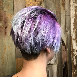 Woman's Haircut and Color